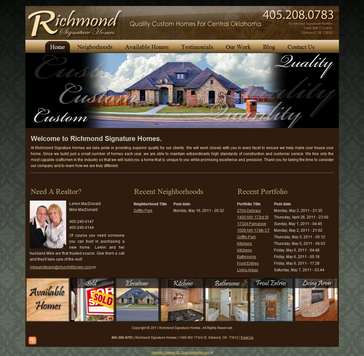 Oklahoma web design oklahoma drupal development Richmond signature homes